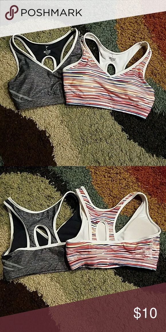 Two Active by Old Navy Sports Bras Medium sports bras, racer back with keyhole. Good support from these bras. Active by Old Navy Other