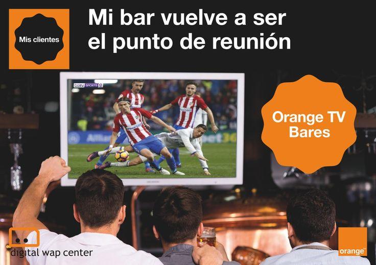 ¡Vive el mejor ⚽️ #fútbol con 📺 Orange TV Bares. Contrátalo este mes en nuestras tiendas Orange de Castellón, Alicante, Murcia y Baleares.