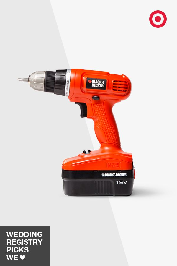 A Black & Decker power drill is one wedding gift that's just as useful as it is unique. Add it to your registry to conquer all those home improvement projects, from mounting to shelving and frames to finishing your basement. And it's not just a guy gift, either.
