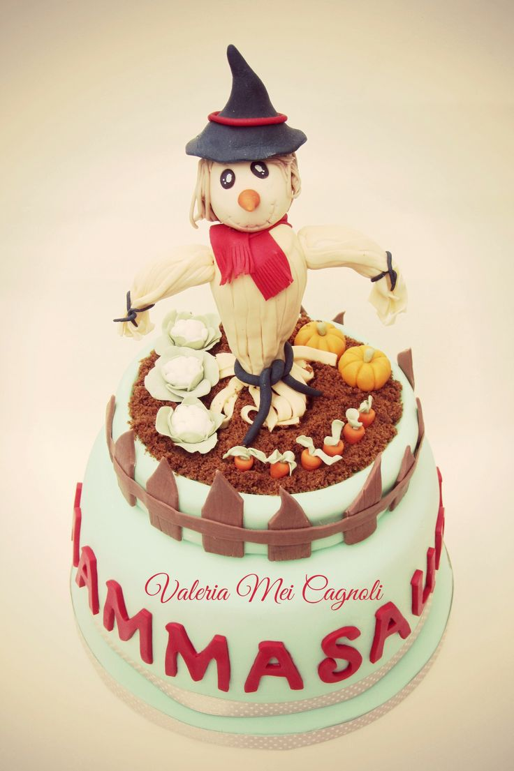 "Torta ""Orto"" realizzata dalla cake designer Valeria Mei Cagnoli. https://www.facebook.com/valeriameicakedesign"