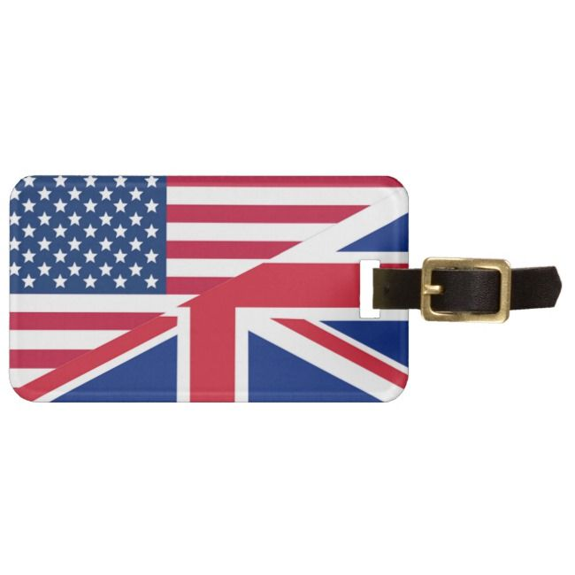 American And Union Jack Flag Luggage Tag Zazzle Com Luggage Tags Union Jack Union Jack Flag