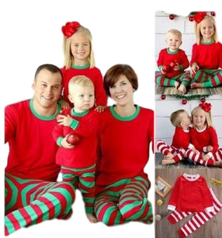 tcYct Family Look 2017 Family Matching Outfits Cotton Striped Matching Christmas Outfits  Father Baby Family Christmas Pajamas