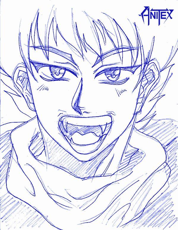 VAMPIRO: Dibujo de Goiki [Furioso] por CRS | CRS: Mis Dibujos de Anime Manga