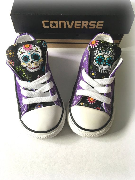 Sugar Skull Converse Purple Custom Converse Sugar