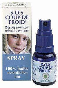 S.O.S Coup de froid Sanoflore - Cosmétique bio - Un cocktail de onze huiles essentielles bio, aux propriétés antiseptiques, apaisantes, purifiantes, pour lutter contre les maux de l'hiver, éternuement, gorge irritée. Eucalyptus...