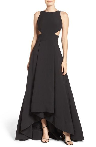 Aidan by Aidan Mattox Cutout Stretch Crepe Gown available at #Nordstrom