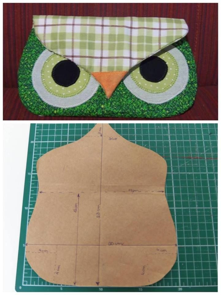 Owl clutch, makeup - cute, cute, cute
