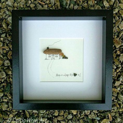 """Home is where the heart is""  http://ift.tt/2r3z4nN copyright Celtic Wren Art  #home #homeiswheretheheartis #irishcottage #cottage #thatchedcottage #loveireland #housewarming #newhome #oldireland #irishcraft #irishgift #madeinireland #pebbleart #mixedmedia #etsy #etsyireland #homedecor #oneofakind #ooak #naturalhome #heart #wallart #uniquegift #irishabroad #irishamerican"