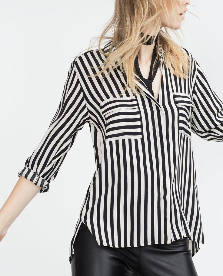 Image 4 of LONG BLOUSE from Zara