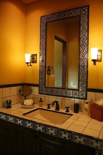Mediterranean Bathroom Mirror Design, Pictures, Remodel, Decor and Ideas - page 2