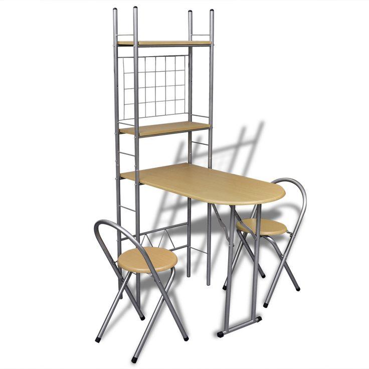 vidaXL Foldbar frokostbar sett med 2 stoler - Hus & Hage