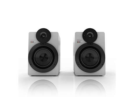 Geniet van overweldigend HiFi-geluid met deze 100 W studioluidsprekers met ongelofelijke basreproductie. Stream draadloos muziek via Bluetooth® met aptX®. En dat alles in een compact design.
