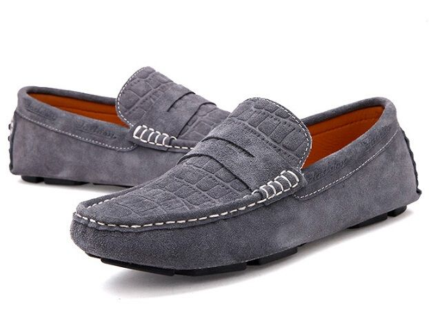Men's 100% Genuine Leather Driving Shoes,New Moccasins Slip On Handmade Shoes,Brand Design Flats Loafers For Men H1