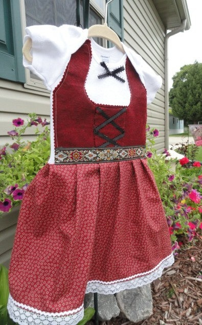 Baby Oktoberfest Dirndl from onesie This would go with my costume!!! :)