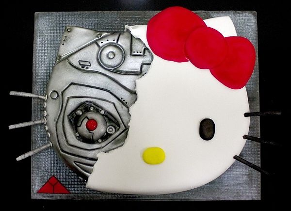 ターミネーター×ハローキティさんのケーキ「Kitty Terminator(キティターミネーター)」 http://entabe.jp/news/article/2482