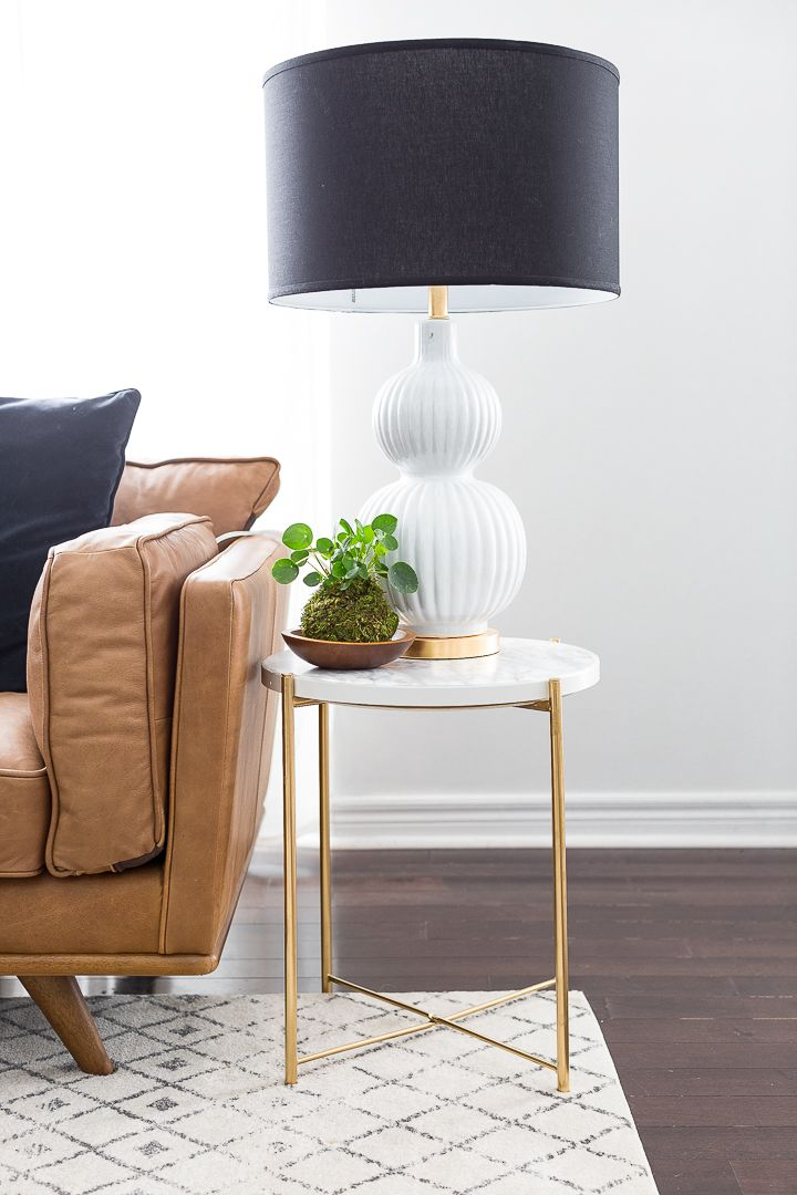 Easy Ikea Decor Hack From Plain Side Table To A Marble