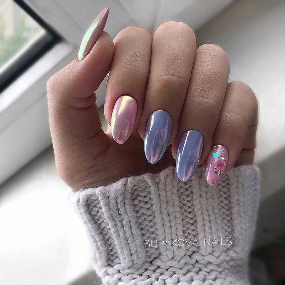 Самая модная форма ногтей миндалевидная + фото дизайна ...