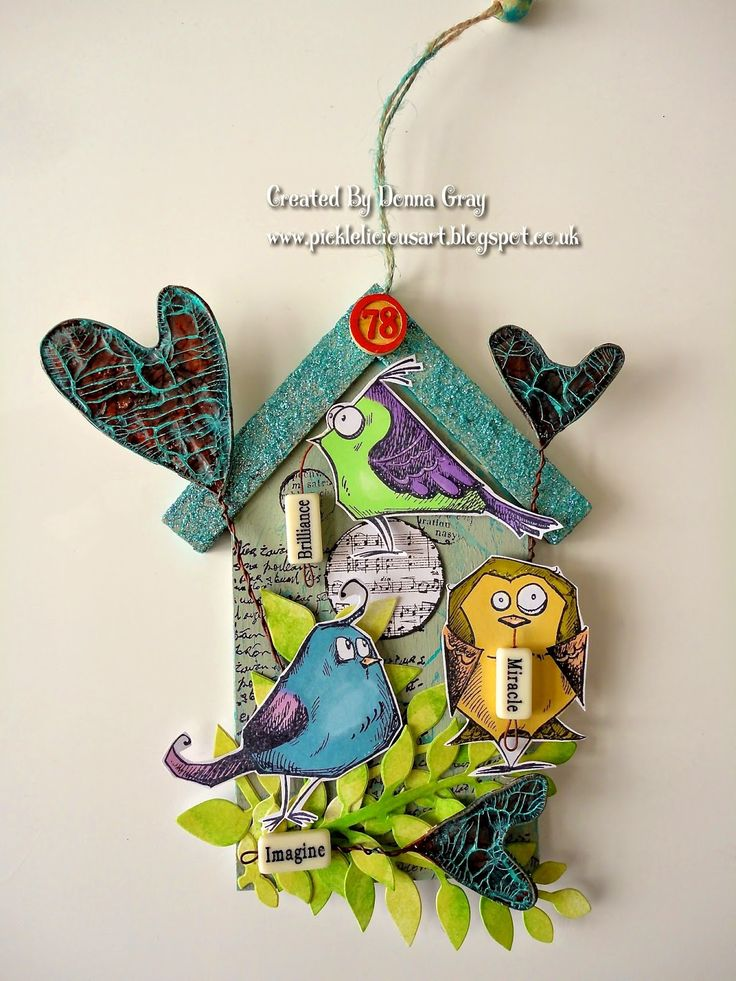 Funky Birds by Donna Gray | That's Blogging Crafty!