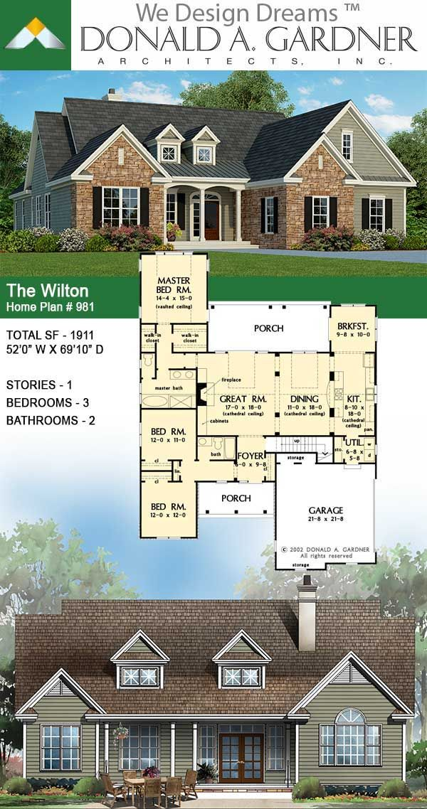 Farmhouse Style House Plan 56721 With 2 Bed 2 Bath In 2020 Farmhouse Style House Plans Farmhouse Style House House Plans