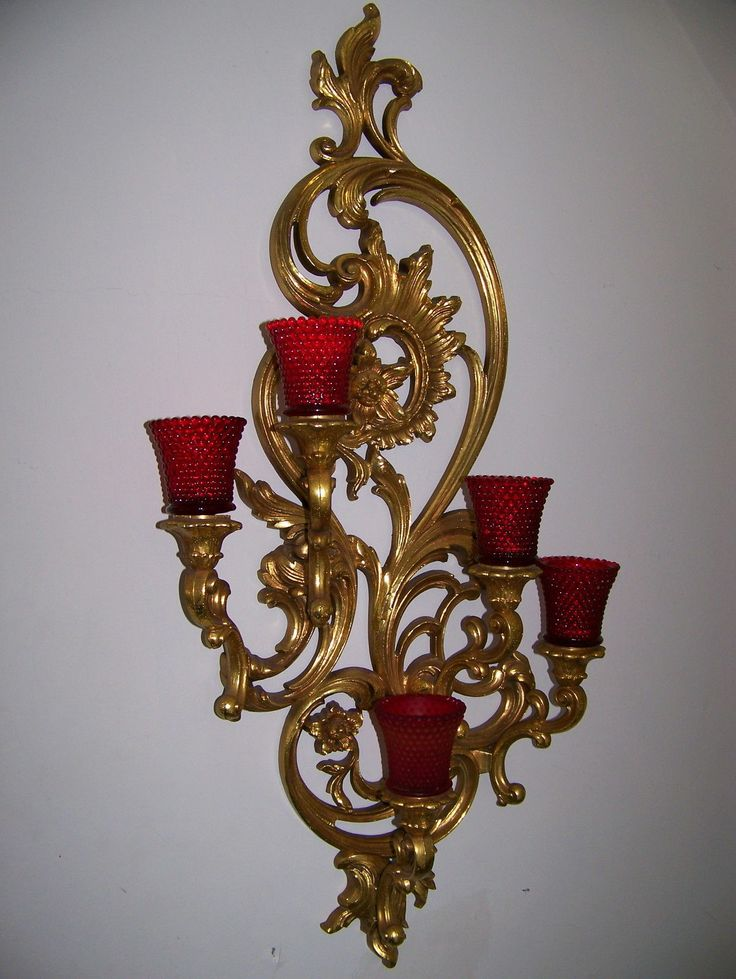 Candle Wall Sconces For Bedroom : VTG Large 35