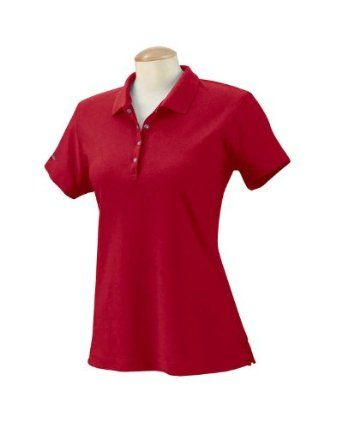 Izod Womens Performance Golf Pique Polo Shirt - Real Red - Medium IZOD. $21.11