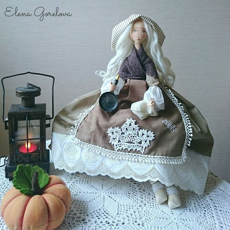 Золушка. Текстильная кукла. Кукла Елены Гореловой