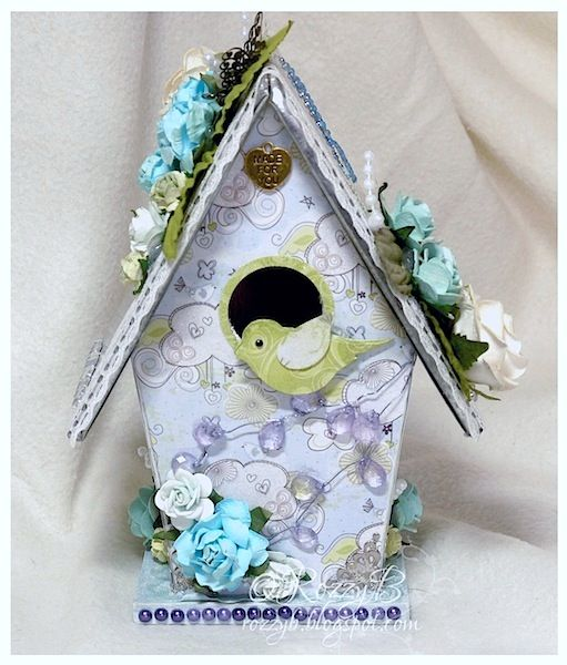 TrimCraft - FIRST EDITION PAPER CRAFT ALTERED BIRD HOUSE a Altered Art ...