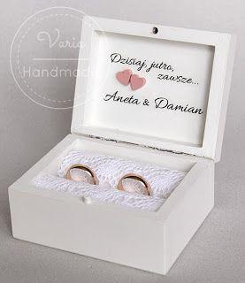 varia: Łososiowe pudełko na obrączki :)