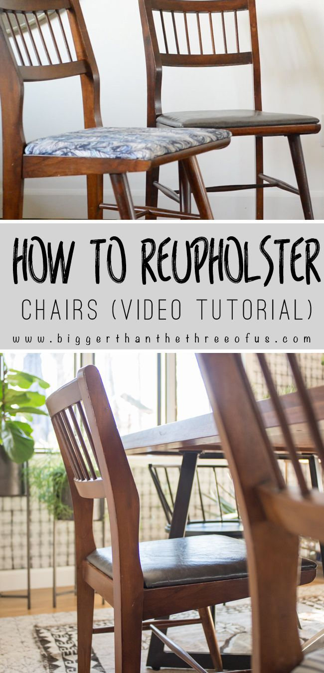 Video Tutorial for How To Upholster Dining Chairs : Get a completely different look on your dining chairs with this how-to tutorial.