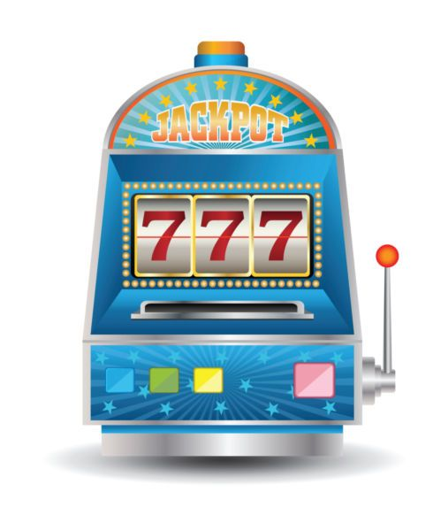 Vector image of a slot machine. - Stock photo