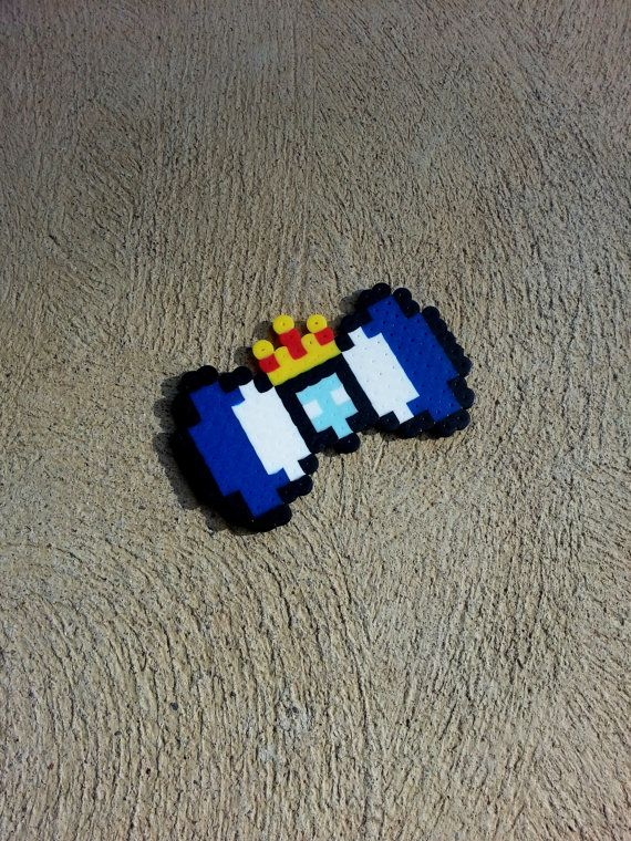 Ice King Hair Bow or Bow Tie perler beads by BurritoPrincess