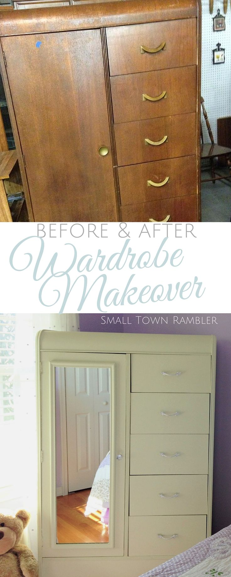 Girl's Chifferobe Makeover- Before and After