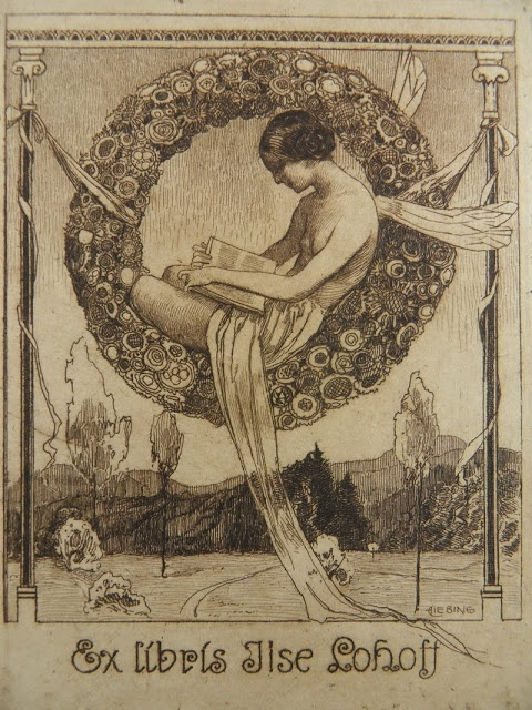 I WANT this bookplate as my own...  nickyskye meanderings: ex libris, a few book plates I like