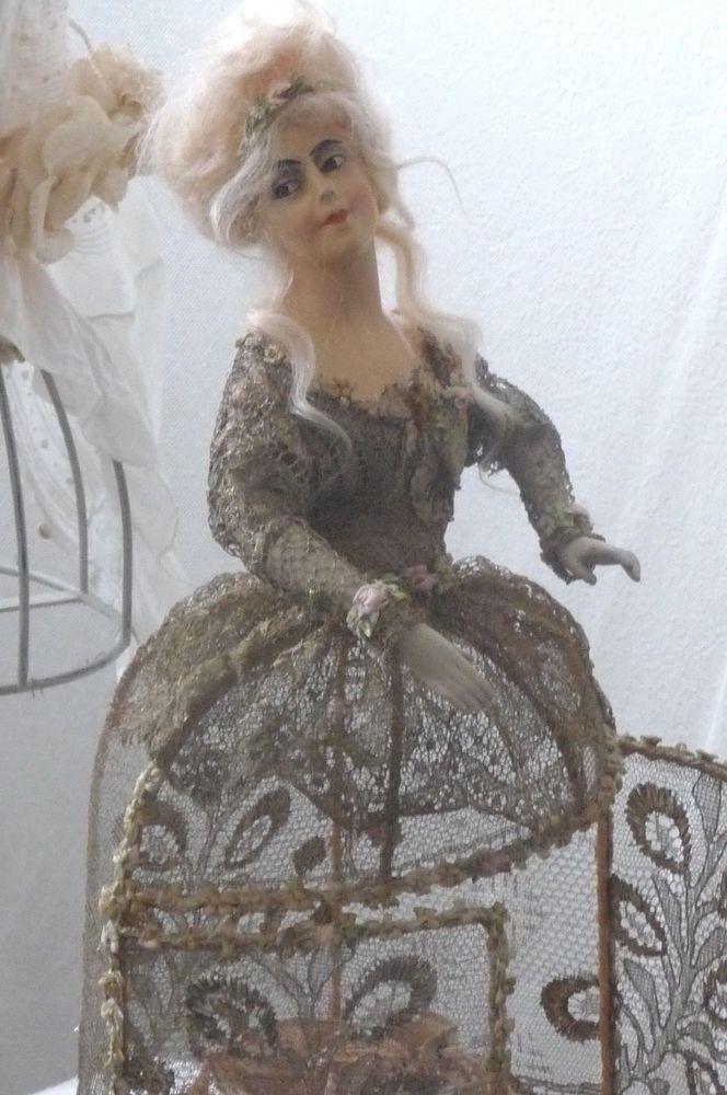 ANTIQUE FRENCH BOUDOIR DOLL PARIS HALF DOLL MARIE ANTOINETTE C.1900 FASHION DOLL    eBay