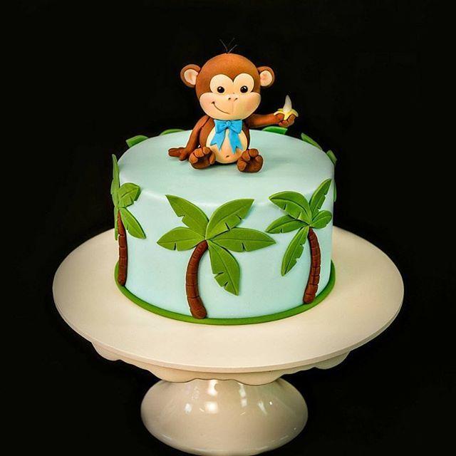 cake cakedecorating cakes palmtrees monkey