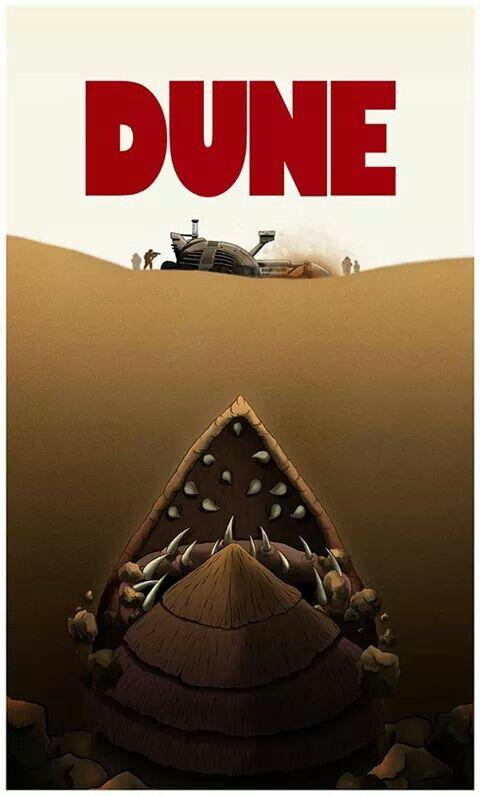 'Dune' fan-art poster design a la 'Jaws' - artist unknown #scifi #FrankHerbert