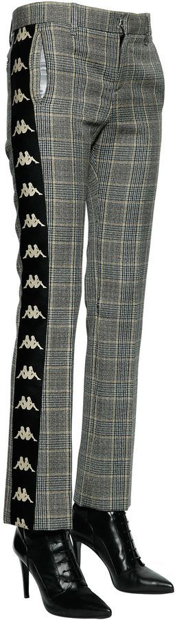 Faith Connexion Kappa Wool Prince Of Wales Pants