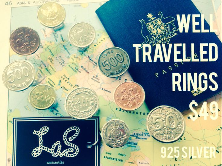 Well travelled coin ring 925 sterling silver $AUD 49.00 ❤️