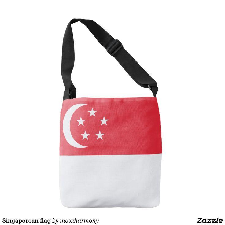 Singaporean flag tote bag