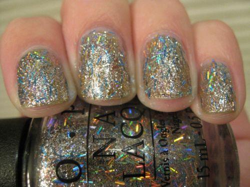 Opi Nail Polish Nicki Minaj Save Me Aka Serious Sparkle Silver Holo Bar Glitter