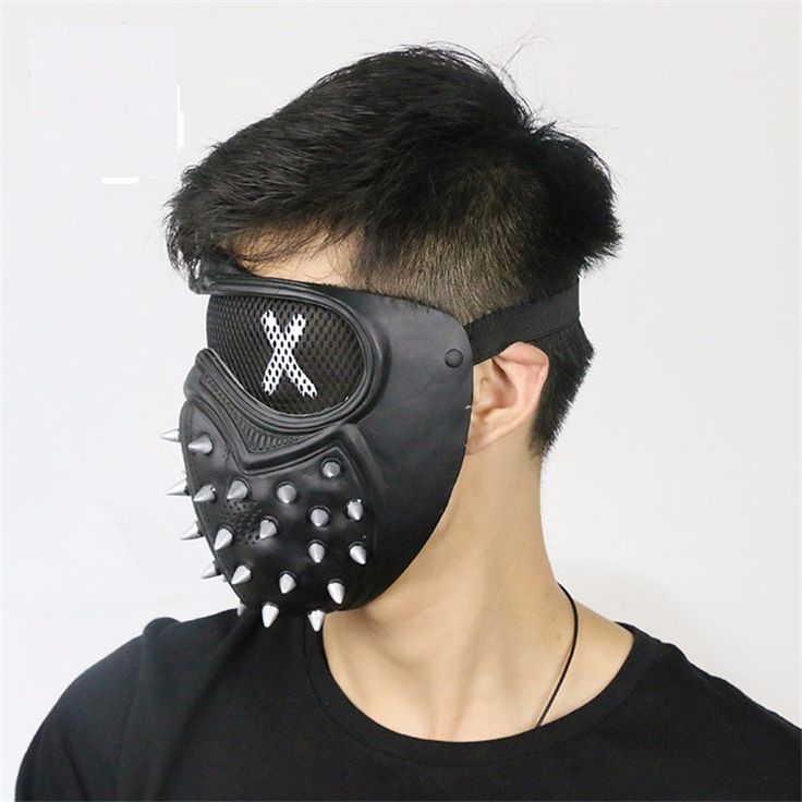 Top Cheap 2016 Game Watch Dogs 2 WD2 Marcus Holloway Wrench Cosplay Face Mask Half Face Unisex Black PVC Party Halloween Props