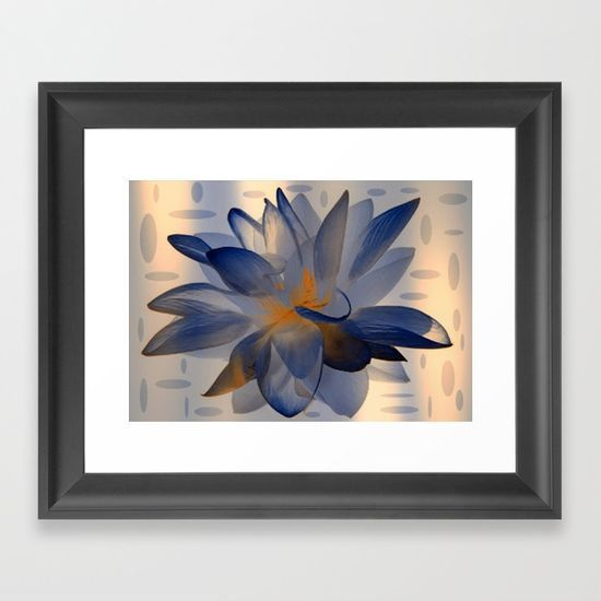Midnight Blue Polka Dot Floral Abstract Framed Art Print https://society6.com/product/midnight-blue-polka-dot-floral-abstract_framed-print?curator=christinebssler