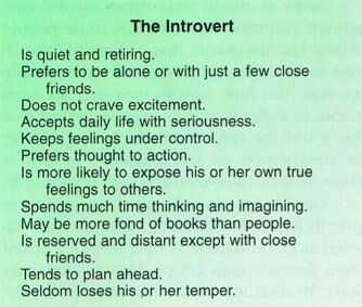 Introverts and happiness