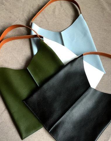 Genuine Leather Bag Handmade Vintage Leather Tote Bag Shoulder Bag Handbag For Women