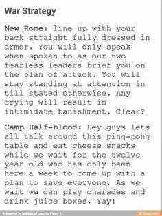 Camp Half-Blood vs. Camp Jupiter