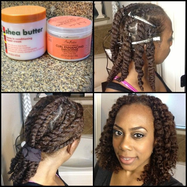 using Cantu Shea Butter Leave In and Shea Moisture Curl Enhancing Smoothie. I don't usually use the clips to hold the down but this time I added one to each section after twisting it. Then I took all the clips out and pulled my hair back with a soft satin scrunchy to elongate it a little/combat some of the shrinkage.  #TwoStrandTwistOut #TwistOut #Cantu #CantuSheaButterLeaveIn #SheaMoisture #SheaMoistureCurlEnhancingSmoothie #naturalhair …