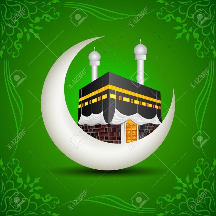 20916149-Eid-Mubarak-Blessing-fo-Eid-with-Kaaba-on-moon-Stock-Photo-hajj.jpg (1300×1300)