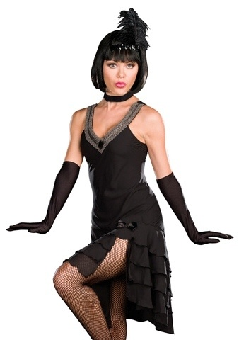 Sexy Black Cabaret Dress 30s Flapper Halloween Costume | eBay