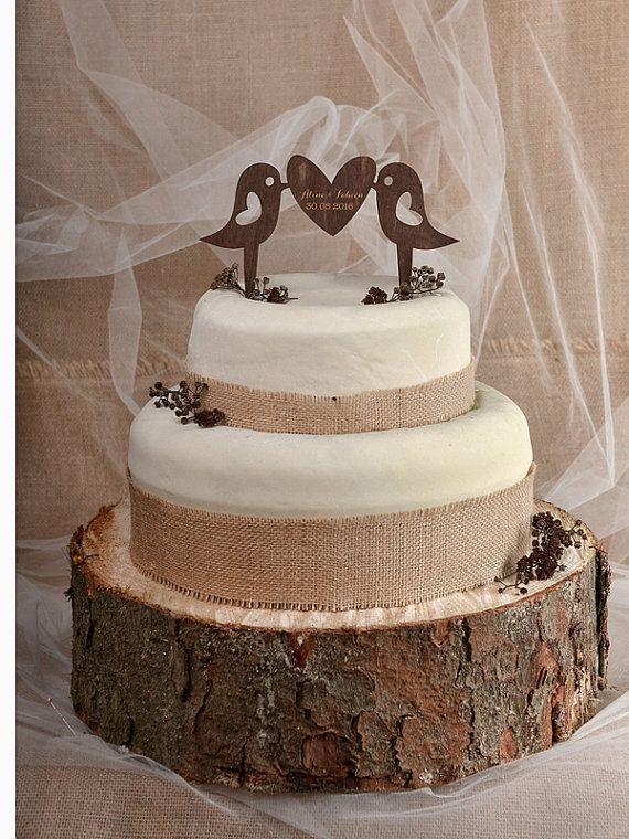 Rustic Cake Topper Wood Monogram By Forlovepolkadots