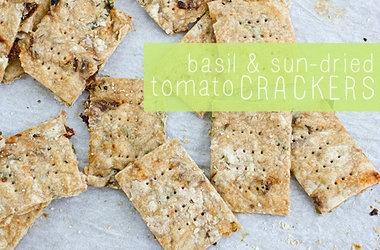 basil amp sun dried tomato crackers punchfork